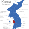 Map Korea Provinzen Chungcheongnam-do
