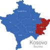 Map Kososvo Bezirke Gnjilane