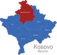 Map Kososvo Bezirke Kosovska_Mitrovica