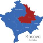 Map Kososvo Bezirke Pristina