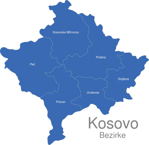 Kososvo Bezirke