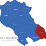 Map Kreis Coesfeld Ascheberg