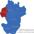 Map Kreis Dithmarschen Büsum-Wesselburen