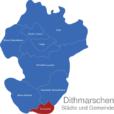 Map Kreis Dithmarschen Brunsbuttel