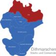 Map Kreis Dithmarschen Eider