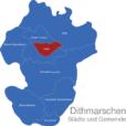 Map Kreis Dithmarschen Heide