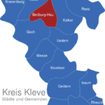 Map Kreis Kleve Bedburg-Hau