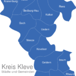 Map Kreis Kleve Emmerich_am_Rhein