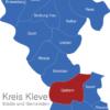 Map Kreis Kleve Geldern