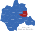 Map Kreis Lippe Barntrup