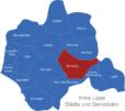 Map Kreis Lippe Blomberg