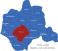 Map Kreis Lippe Detmold
