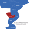 Map Kreis Mettmann Erkrath