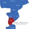 Map Kreis Mettmann Hilden
