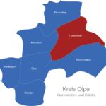 Map Kreis Olpe Lennestadt