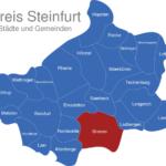 Map Kreis Steinfurt Greven