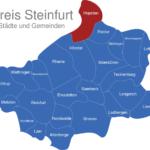 Map Kreis Steinfurt Hopsten