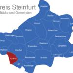 Map Kreis Steinfurt Horstmar