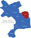 Map Kreis Unna Bönen