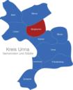 Map Kreis Unna Bergkamen