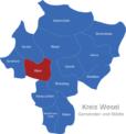 Map Kreis Wesel Alpen