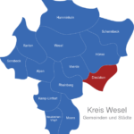 Map Kreis Wesel Dinslaken