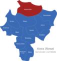 Map Kreis Wesel Hamminkeln