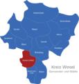 Map Kreis Wesel Kamp-Lintfort