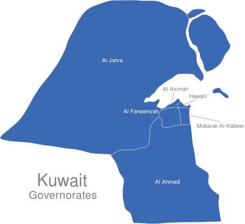 Kuwait Regierungsbezirke