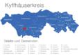 Map Kyffhäuserkreis Bellstedt