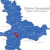 Map Landkreis Dahme Spreewald Bersteland