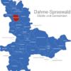 Map Landkreis Dahme Spreewald Bestensee
