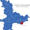 Map Landkreis Dahme Spreewald Byhleguhre-Byhlen