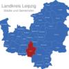 Map Landkreis Leipzig Borna