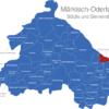 Map Landkreis Märkisch Oderland Bleyen-Genschmar