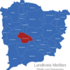 Map Landkreis Meißen Diera-Zehren
