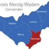Map Landkreis Merzig Wadern Beckingen