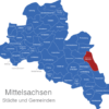 Map Landkreis Mittelsachsen Bobritzsch-Hilbersdorf