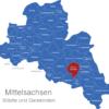Map Landkreis Mittelsachsen Brand-Erbisdorf