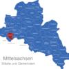 Map Landkreis Mittelsachsen Burgstädt
