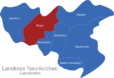 Map Landkreis Neunkirchen Illingen