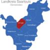 Map Landkreis Saarlouis Dillingen