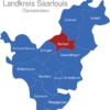 Map Landkreis Saarlouis Nalbach