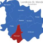 Map Landkreis St  Wendel Marpingen