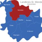 Map Landkreis St  Wendel Nofelden