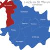 Map Landkreis St  Wendel Nonnweiler