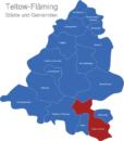 Map Landkreis Teltow Fläming Dahme_Mark