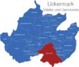 Map Landkreis Uckermark Angermunde