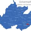 Map Landkreis Uckermark Berkholz-Meyenburg