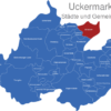Map Landkreis Uckermark Brussow